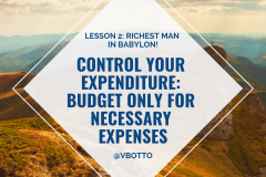 Lesson 2_ Control Your Expenditure - Richest Man in Babylon